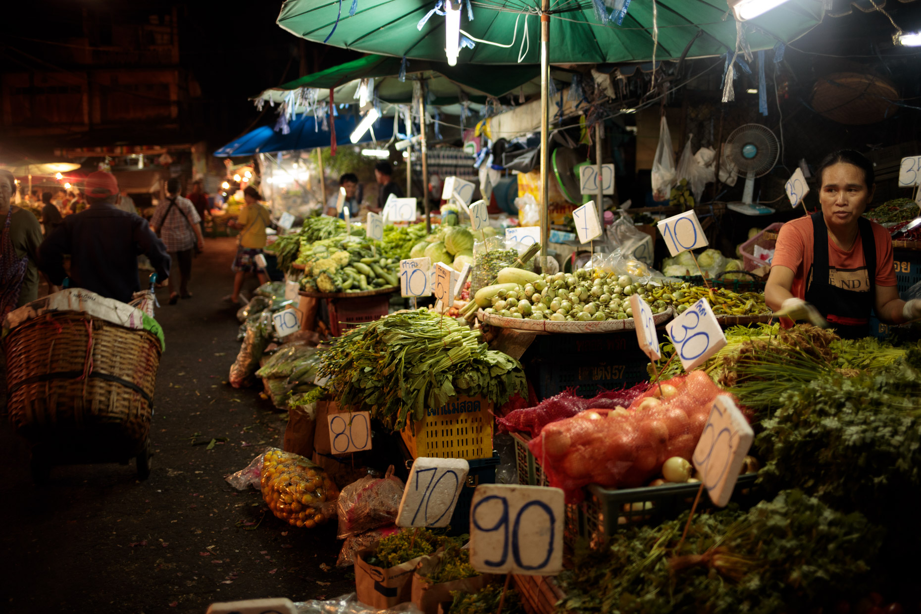 Early morning in a market in Bangkok