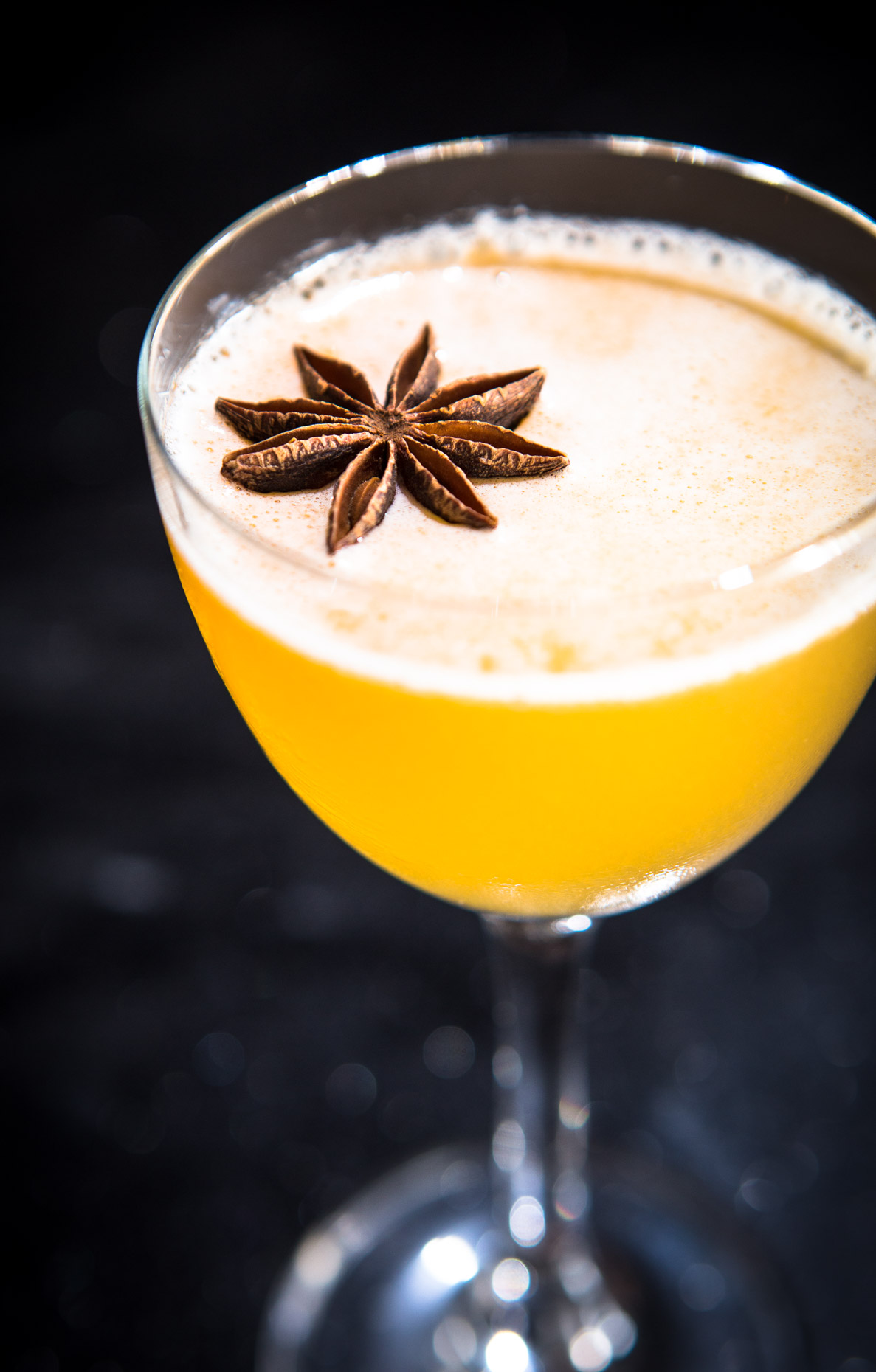 Craft cocktail with star anise